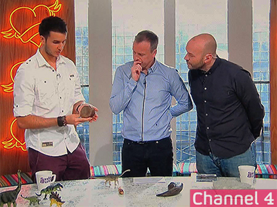Live guest appearance on Channel 4's Sunday Brunch, talking about British dinosaurs (Oct, 2014).